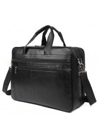 Большая вместительная сумка для мужчины чёрная 77319a