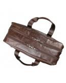 Фотография Большая коричневая мужская кожаная сумка 77319c