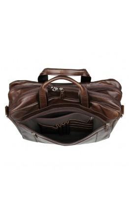 Большая коричневая мужская кожаная сумка 77319c