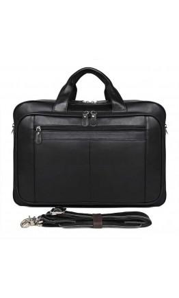 Кожаная черная большая сумка для командировок 77320A