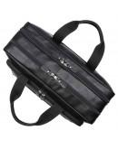 Фотография Кожаная черная большая сумка для командировок 77320A