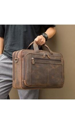 Вместительный мужской портфель - винтажная сумка 77320R