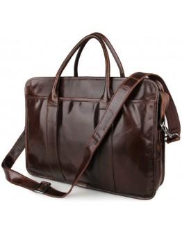 Стильная коричневая мужская сумка кожаная 77321c