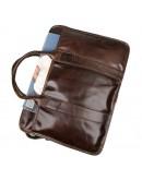 Фотография Стильная коричневая мужская сумка кожаная 77321c