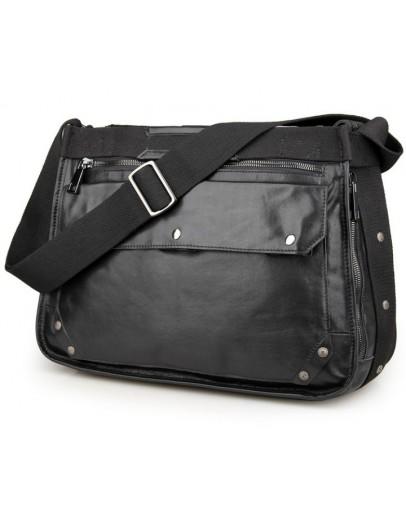 Фотография Большая и очень вместительная мужская сумка на плечо 77323 a