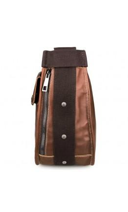 Коричневая очень вместительная мужская сумка на плечо 77323c