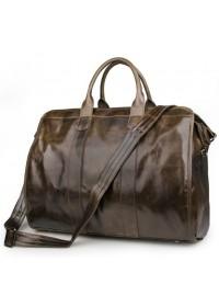 Большая вместительная дорожная сумка коричневая 77324b