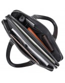 Фотография Черная деловая сумка для мужчины кожаная 77325A