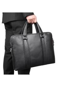 Черная деловая сумка для мужчины кожаная 77325A
