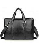 Фотография Чёрная кожаная мужская сумка портфель 77326a