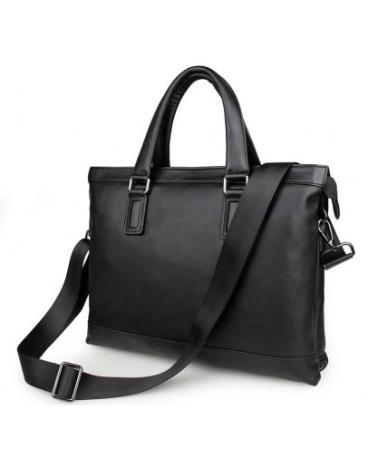 Фотография Оригинальная мужская кожаная сумка, черная 77327a