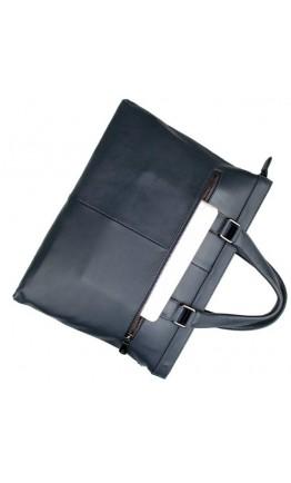 Синий кожаный мужской портфель для города 77327K