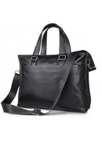 Повседневная мужская кожаная чёрная сумка 77328a
