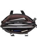 Фотография Повседневная мужская кожаная чёрная сумка 77328a
