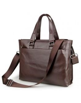 Повседневная мужская кожаная коричневая сумка 77328c