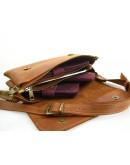 Фотография Рыжая женская кожаная сумка на плечо 773329-SGE