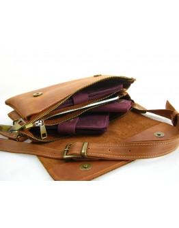 Рыжая женская кожаная сумка на плечо 773329-SGE