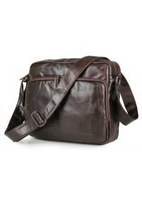 Удобная сумка для мужчины на плечо коричневая 77332c