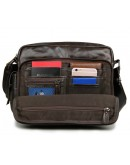 Фотография Удобная сумка для мужчины на плечо коричневая 77332c
