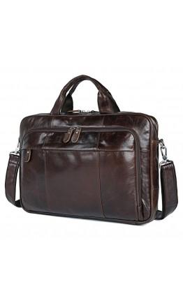 Вместительная коричневая сумка для ноутбука с органайзерами 77334