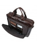 Фотография Вместительная коричневая сумка для ноутбука с органайзерами 77334