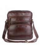 Фотография Коричневая кожаная большая сумка через плечо 77337