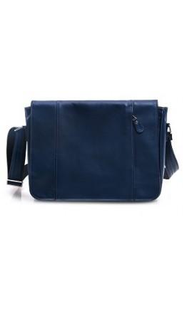 Большая синяя мужская сумка формата А4 77338 N