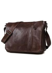 Большая тёмно-коричневая сумка на плечо 77338 c