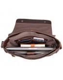 Фотография Большая тёмно-коричневая сумка на плечо 77338 c