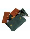 Фотография Зеленая женская кожаная сумка на плечо 773388-SGE