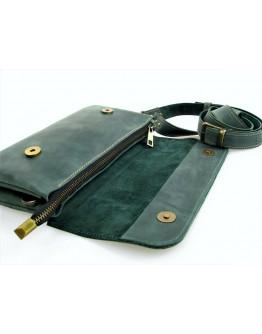 Зеленая женская кожаная сумка на плечо 773388-SGE