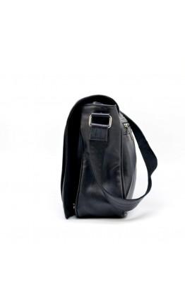 Большая мужская черная кожаная сумка на плечо Tarwa 77338A2