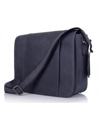 Фотография Синяя большая мужская сумка на плечо 77338K