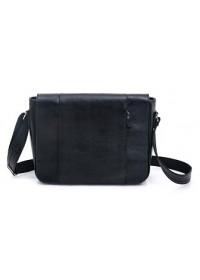 Большая черная мужская сумка на плечо формата A4 77338 A