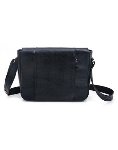 Фотография Большая черная мужская сумка на плечо формата A4 77338 A
