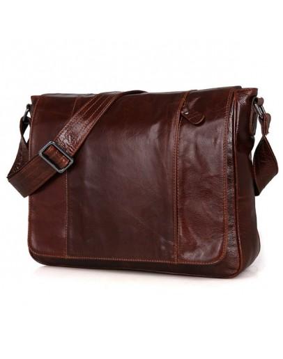 Фотография Большая кожаная сумка мужская на плечо 77338b
