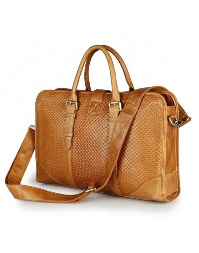 Фотография Удобный оригинальный портфель модного рыжего цвета 77339b