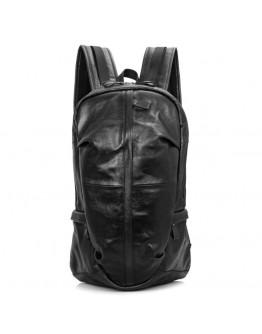 Вместительный большой чёрный кожаный рюкзак 77340a