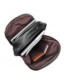 Фотография Вместительный большой чёрный кожаный рюкзак 77340a
