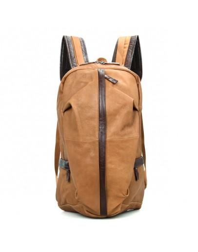 Фотография Коричневый мужской большой рюкзак из кожи 77340b1