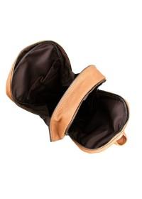 Коричневый мужской большой рюкзак из кожи 77340b1