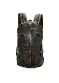 Большой тёмно-коричневый рюкзак из кожи 77340q