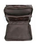 Фотография Вместительная мужская кожаная коричневая сумка 77345C