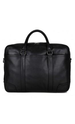 Кожаный чёрный мужской добротный портфель 77348a