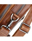 Фотография Вместительный стильный кожаный коричневый портфель 77348b