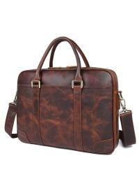 Мужская сумка для ноутбука, коричневая 77349Q