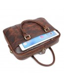 Фотография Мужская сумка для ноутбука, коричневая 77349Q