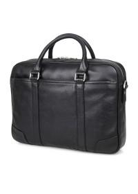 Удобный кожаный портфель чёрного цвета для мужчин 77349a