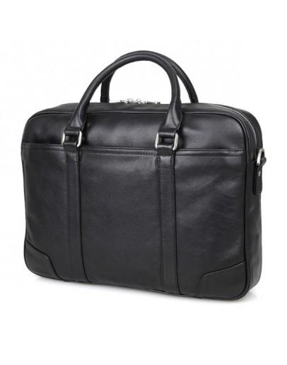 Фотография Удобный кожаный портфель чёрного цвета для мужчин 77349a