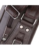 Фотография Коричневая кожаная мужская сумка на пояс 77353Q